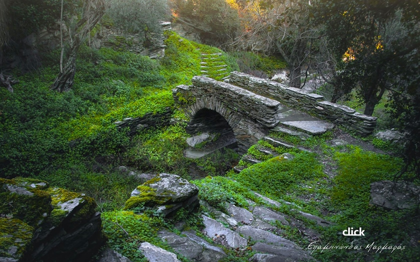 Andros. The Bridge of Love in the Episkopio