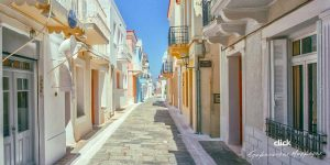 The old town in Chora of Andros