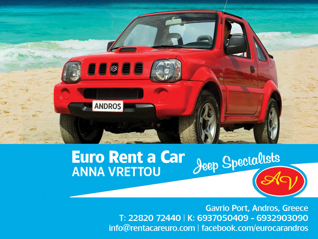 Euro Car Andros Car Rentals Jeep In Andros Island